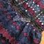 เดรสลูกไม้ พร้อมส่ง เดรสผ้าลูกไม้ สีน้ำเงินและแดงเบอร์กันดี thumbnail 19
