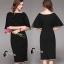 พร้อมส่ง Mini dress สีดำทรงแขนค้างคาว thumbnail 2
