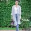 เสื้อเกาหลี พร้อมส่ง เสื้อคลุมตัวยาว แขนจั้มกระบอก thumbnail 10