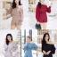 เสื้อผ้าเกาหลี พร้อมส่ง เสื้อปาดไหล่กับกางเกงเอวสูง thumbnail 16