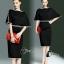 พร้อมส่ง Mini dress สีดำทรงแขนค้างคาว thumbnail 1