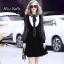 เดรสเกาหลี พร้อมส่ง Dress คอลใหม่ ตกแต่งโบว์ใหญ่ thumbnail 1