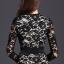 พร้อมส่ง dress ชุดเดรสลูกไม้ดำซับสีเนื้อ thumbnail 6