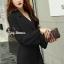 ชุดเดรสเกาหลี พร้อมส่ง เดรสกึ่งสูทเข้ารูป คอปก thumbnail 14