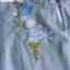 พร้อมส่ง เดรสยีนส์งานปักดอกไม้ thumbnail 13