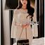 เดรสเกาหลี พร้อมส่ง เดรสผ้าเครปสีขาวทรงบอดี้คอน thumbnail 5