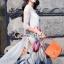 เดรสเกาหลี พร้อมส่ง เดรสสีเทา พิมพ์ลายดอกไม้ thumbnail 6