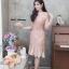 ชุดเดรสเกาหลี พร้อมส่ง Dress ลูกไม้ระบายชาย thumbnail 4