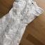 เดรสแฟชั่นผ้าลูกไม้สีขาวระบาย พร้อมส่ง thumbnail 9