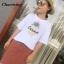 พร้อมส่ง เสื้อยืดงานปักลายสับปะรดCarino thumbnail 5