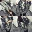 เสื้อผ้าเกาหลีผ้าไหมพรม สามเหลี่ยม พร้อมส่ง thumbnail 3