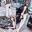 เสื้อเกาหลีแขนกุด+กางเกงขายาว พร้อมส่ง thumbnail 2