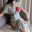 เดรสเกาหลี พร้อมส่ง ชุดเดรสผ้าชีฟอง ลายดอกไม้ thumbnail 4