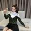 เสื้อเกาหลี พร้อมส่ง เสื้อไหมพรมแขนยาว thumbnail 5