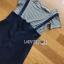 เสื้อผ้าเกาหลี พร้อมส่ง เซ็ตเสื้อยืดแขนสั้นลายทางและเดรสเอี๊ยม thumbnail 16
