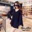 เดรสเกาหลี พร้อมส่ง MINI Dress คอวีแขนกระดิ่ง thumbnail 1