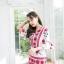 เสื้อผ้าเกาหลีพร้อมส่ง จั๊มสูทพิมพ์ลายเชิง thumbnail 6