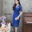 ชุดเดรสเกาหลี พร้อมส่ง Dress ลูกไม้คอวี thumbnail 2