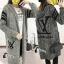 เสื้อผ้าเกาหลี พร้อมส่ง โอเวอร์โค้ททรงยาว thumbnail 1