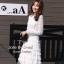 ชุดเดรสเกาหลี พร้อมส่ง ชุดเดรสสีขาว ทรงแขนยาว thumbnail 3