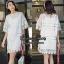 เดรสเกาหลี พร้อมส่ง MINI Dress แขนกระดิ่ง thumbnail 5