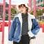 เสื้อเกาหลี พร้อมส่ง แจ๊คเก็ตยีนส์ฟอกเท่ๆ ทรงใหญ่ thumbnail 13