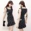 พร้อมส่ง Mini Dress แขนกุดลายจุด thumbnail 1