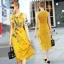 พร้อมส่ง ชุด Maxi Dress สีเหลืองแขนกุด thumbnail 1