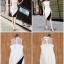 ชุดเดรสเกาหลี พร้อมส่ง Dress แขนกุด อกต่อผ้าซีทรู thumbnail 2