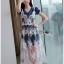 เดรสเกาหลี พร้อมส่ง เดรสผ้าเจอร์ซีย์ทับด้วยเดรสผ้าลูกไม้ thumbnail 4