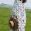 ชุดเดรสเกาหลี พร้อมส่ง เดรสยาว แขนยาว ทรงสวย thumbnail 3