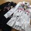 พร้อมส่ง เสื้อแฟชั่น เชิ้ตยาวปักลายดอกไม้ thumbnail 13