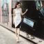 ชุดเดรสเกาหลี พร้อมส่ง Dress แขนกุด อกต่อผ้าซีทรู thumbnail 5