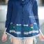 เสื้อเกาหลี คอปีนแขนสามส่วน พร้อมส่ง thumbnail 8
