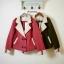 เสื้อเกาหลี พร้อมส่ง Coat gugii เสื้อโค้ชปกยาว thumbnail 2