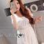 ชุดเดรสเกาหลี สีขาวผ้าชีฟอง พร้อมส่ง thumbnail 7