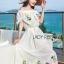 เดรสเกาหลี สีขาวทรงเปิดไหล่ปักดอกไม้ พร้อมส่ง thumbnail 4