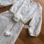 ชุดเดรสเกาหลี พร้อมส่ง เดรสผ้าชีฟองปักลายสีขาว thumbnail 8