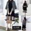 เดรสเกาหลี พร้อมส่ง Mini dress ระบายชีทู 3 ชั้น thumbnail 10