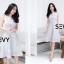พร้อมส่ง Dress งานเรียบหรู สวย เดรสผ้าตาข่าย thumbnail 4