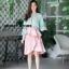 เสื้อผ้าเกาหลี พร้อมส่ง เสื้อเขียวกับกระโปรง thumbnail 4