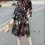 เสื้อผ้าเกาหลี พร้อมส่ง เสื้อ+กระโปรง ลายดอกไม้ thumbnail 7