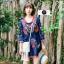 เดรสเกาหลี พร้อมส่ง Mini dress งานปักสไตล์โบฮีเมียน thumbnail 4