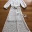 ชุดเดรสเกาหลี พร้อมส่ง เดรสผ้าชีฟองปักลายสีขาว thumbnail 12