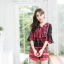 เสื้อผ้าเกาหลีพร้อมส่ง จั๊มสูทพิมพ์ลายเชิง thumbnail 1