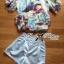 พร้อมส่ง เซ็ตเสื้อผ้าชีฟองพิมพ์ลายสีสดประดับชั้นและกางเกงขาสั้นผ้าซาติน thumbnail 16