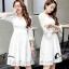 พร้อมส่ง mini dress แขนยาวสีขาว thumbnail 6