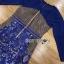 เดรสลูกไม้ พร้อมส่ง เดรสผ้าลูกไม้ สีน้ำเงินสด thumbnail 19