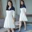 เดรสเกาหลี พร้อมส่ง เดรสทรงสวย ผ้าจอร์เจีย thumbnail 1