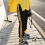 เสื้อผ้าเกาหลี พร้อมส่ง เสื้อแต่งแถบตัวอักษรเหลืองดำตัดกัน thumbnail 3